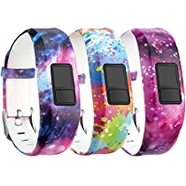 SKYLET Garmin vivofit 3 Silicone Replacement Bands with Secure Watch Clasp (No Tracker) (101: Universe, Standard (6.0-9.0 in))