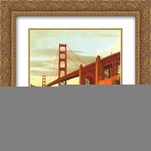 Golden Gate Bridge, San Francisco 2x Matted 20x20 Gold Ornate Framed Art - Francisco Galleria San