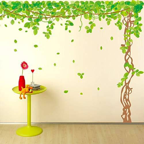 SWORNA Nature Series SN040 Lovely Large Green Tree Removable Vinyl DIY Wall Art Decor Decal Mural Sticker Kids Baby Nursery Living/Sitting Room Playroom Kindergarten Bedrooom Study Hallway 79
