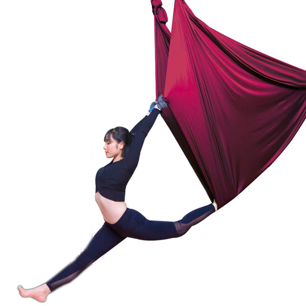 Gurte Luft-Yoga-Hängematte Der Höhenlage Fliegende Fliegende Leute Innenyoga-Hängematten-Schlingenfamilienyoga-Schlingen-Ausdehnungsgurt Elastisches Bettyoga-Schwingen (Farbe : E, Größe : 5  2.8m)
