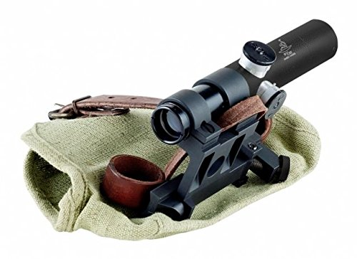BERING OPTICS Russian 3.5x20 PU Scope with Solid Steel Mosin-Nagant Rifle Mount, Black