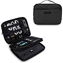 "BAGSMART 3-Layer Travel Electronics Cable Organizer with Bag for 9.7"" iPad, Hard Drives, Cables, Charger, Kindle, Black"