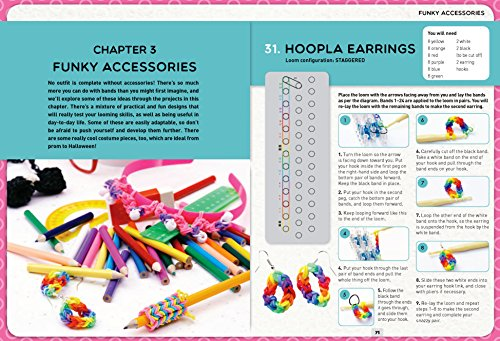 Loom Band It: 60 Rubberband Projects for the Budding Loomineer by Barron's Educational Series (Image #5)