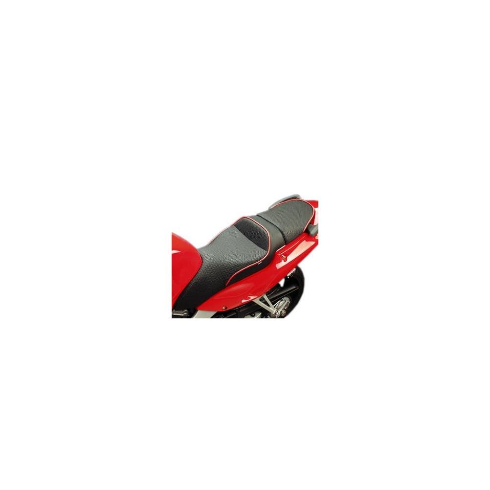 Sargent World Sport Seat Black W/ Red Welts for Honda VFR800 Interceptor 1998-01 by Sargent (Image #1)