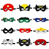 Superhero Mask Party Mask Birthday Party Favors for Kids and Adults 12 Pieces