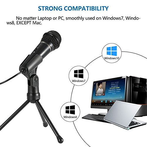 Jeystar SF-910 Condenser Sound Microphone with 3.5mm Audio Plug & Tripo For Computer PC by Jeystar (Image #5)