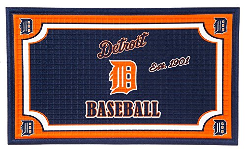 - Team Sports America Detroit Tigers Embossed Floor Mat, 18 x 30 inches