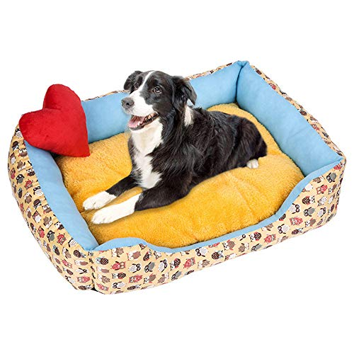 ✰ZTY66®✰ Dog Bed, Super Soft Pet Sofa Cats Bed, Non Slip Bottom Pet Lounger,Self Warming and Breathable Pet Bed Premium Bedding (F, M)