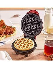 Harddo Mini wafelijzer machine, elektrische taartmachine voor pannenkoeken, koekjes voor pannenkoeken, antiaanbaklaag, diepe kookplaten