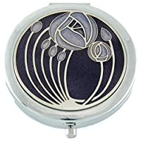 Compact Mirror in Mackintosh Two Roses Design. (Purple)