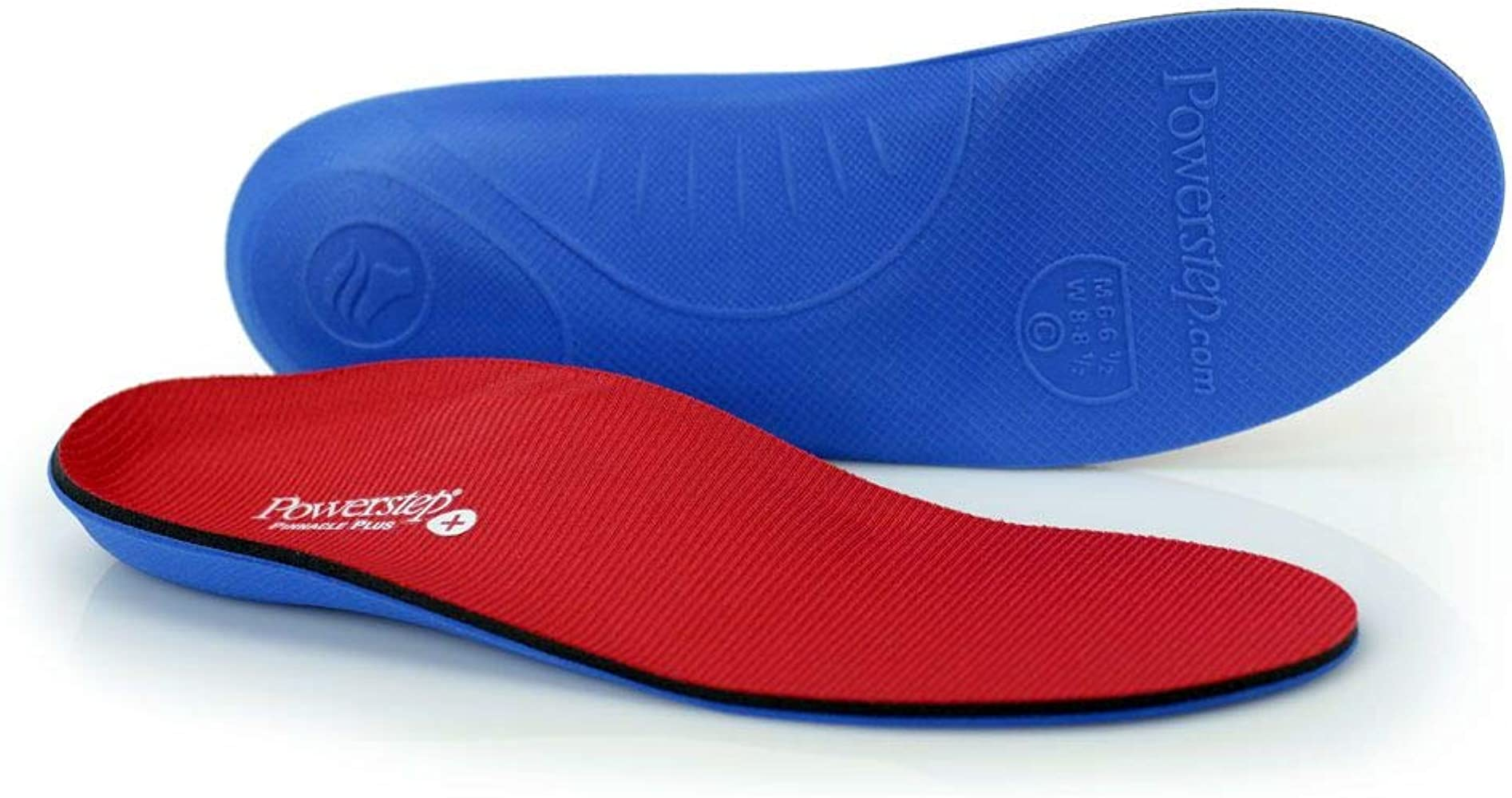 Powerstep Pinnacle Plus Met Insoles Sandal, Red/Blue, Men's 6-6.5, Women's 8-8.5