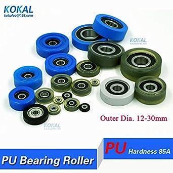 Ochoos - 10 unidades de rodamientos de bolas de poliuretano ...