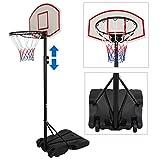 ZENY Portable Kids Basketball Hoop Backboard System Stand w/Wheels Adjustable Height 5.4ft - 7ft Indoor Outdoor