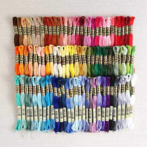 DMC Embroidery Floss Assortment 100 Colors. Genuine Made in France from DMC