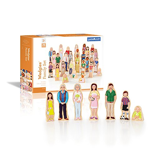 Guidecraft Wedgies Multi-Cultural Family Set - Kids Learning & Educational Toys ()