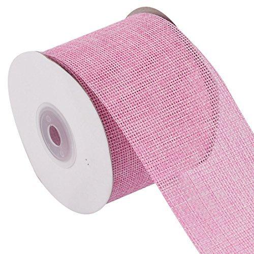 EbuyChX Jute Belt Strap String Crafting Ribbon Roll 10.9 Yards Pink para sa Wedding Decor (Roll Pista)