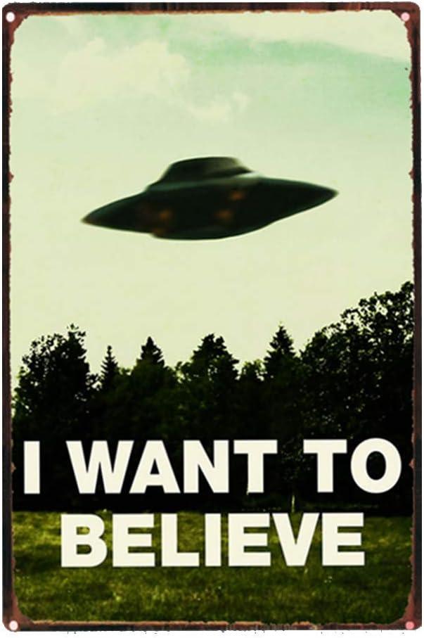 XIAOBAO Ufo I Want To Believe - Cartel de metal (20 x 30 cm ...