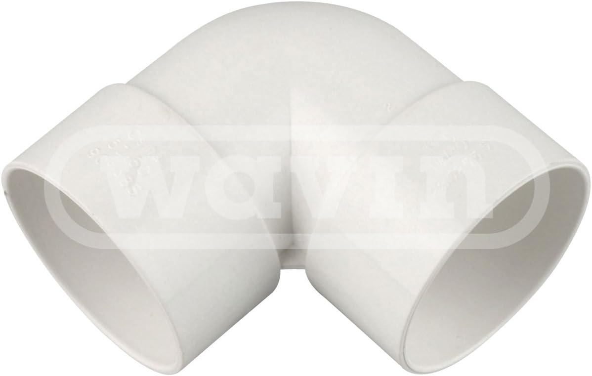 knuckle 90 degree bend White 1.5 Osma 5Z160W 40mm