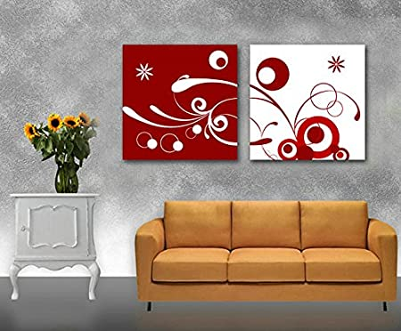 Gallery Canvas Art 2 Piece Prints Abstract Split Picture Of Wall