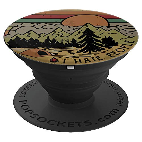 I Hate People Retro Vintage Funny Camping Gift - PopSockets Grip and Stand for Phones and Tablets]()