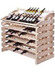 Modularack Pro Wine Rack Waterfall Fixture 180 Bottles Natural Finish
