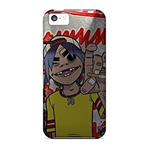 (hiDOTLr3305UNVEG)durable Protection Case Cover For Iphone 5c(gorillaz)