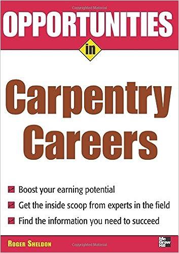 Opportunities in Carpentry Careers (Opportunities in