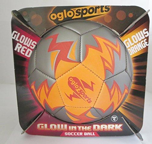 Oglo Sports NSI Glow in the Dark Soccer Ball Red Glow / O...