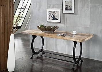 mobili in legno massello stile industriale tavolo da pranzo ... - Tavolo Da Cucina In Legno Antico