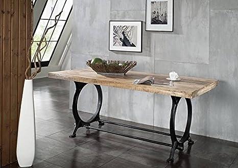Mobili In Legno E Ferro : Mobili in legno massello stile industriale tavolo da pranzo