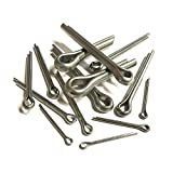 25 x Split Cotter Pins Imperial 1/4'' x 3'' Bright Zinc Plated Retaining Fixings