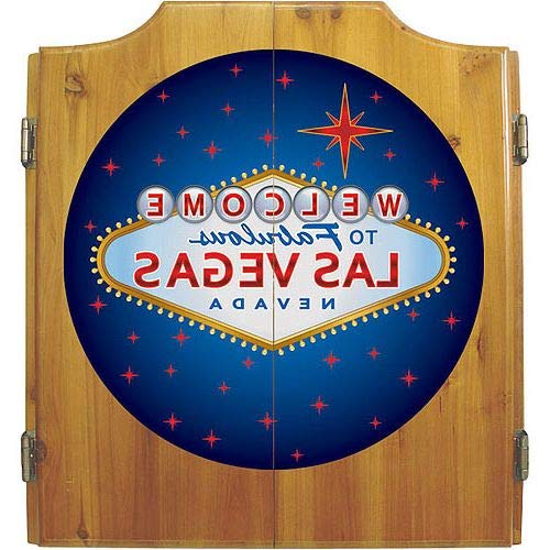 Aromzen Las Vegas Dart Cabinet Includes Darts and Board
