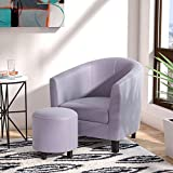 Ocean Bridge 82001SGY Barrel Chair