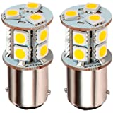 Green LongLife 5050184 LED Replacement Light Bulb Tower with 1076 base 155 Lumens 12v or 24v Warm White (2 per pkg)