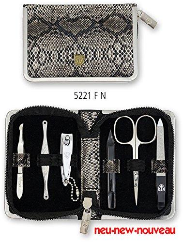 Drei Schwerter | Exklusives 6-teiliges Maniküre - Pediküre - Nagelpflege-Set / Etui | Qualität - Made in Solingen (522108)