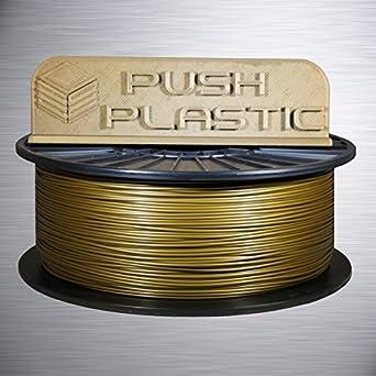 Amazon.com: empujar plástico filamento Oro PLA Impresora 3d ...