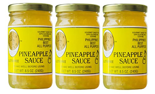Pineapple Sauce Ham - Lola Cion's Pineapple Sauce (8.5 oz.) 3 pack bottles. All Natural, Gluten Free Multipurpose Glaze, Dressing, Topping, or Dip | Sweet, Low -Sugar Flavor | Cooking and Baking