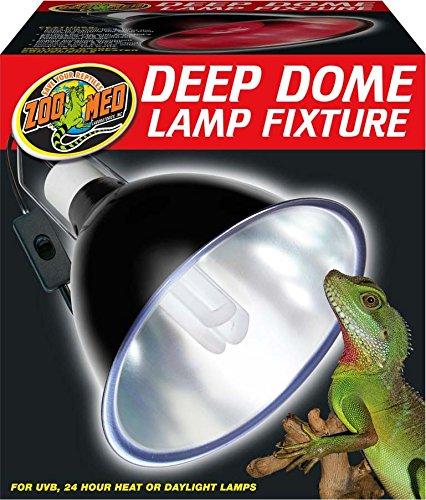 ZOO MED LABORATORIES INC Deep Dome Lamp Fixture Black 8.5 INCH