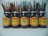 Wildberry Incense Sticks Best Seller Set #3: 10 Sticks Each of 5 Scents, Total 50 Sticks!