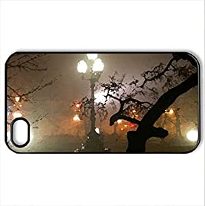 NIGHT TIME IN THE PARK - Case Cover for iPhone 4 and 4s (Modern Series, Watercolor style, Black)