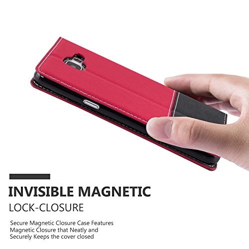 Cadorabo - Funda Estilo Book para Samsung Galaxy A3 (6) (Modelo 2016) de Diseño gamuza-Artificial / Cuero-Artificial con Tarjetero, Función de Soporte y Cierre Magnético Invisible