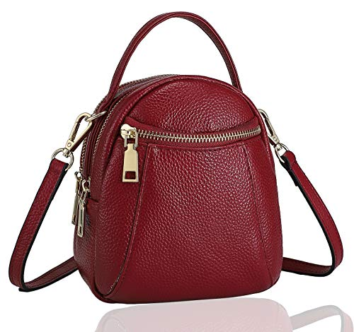 Lightweight Small Ladies Handbags Shoulder Crossbody Bags Cell Phone Purse Leather