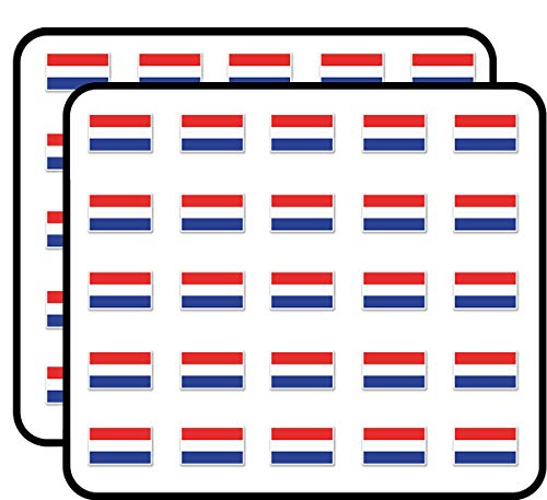 Netherlands Calendar The - Netherlands Flag Sticker for Scrapbooking, Calendars, Arts, Kids DIY Crafts, Album, Bullet Journals 50 Pack