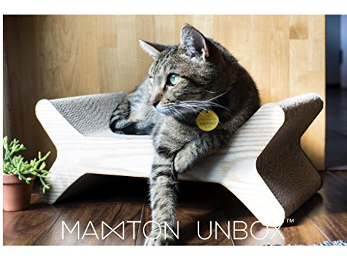 Maxton Unbox | Modern Cat Scratcher Lounge | Give your pet furniture style!