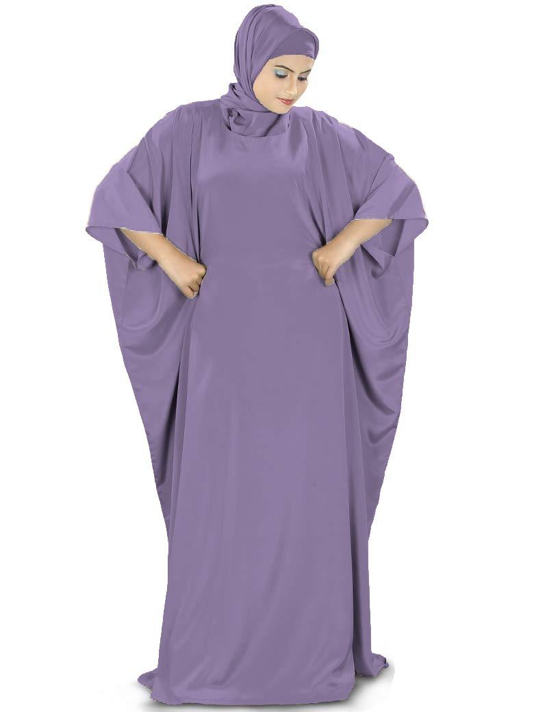 MyBatua Women's Kaftan, Free Size, Dubai Maxi Dress, KF-001, Purple