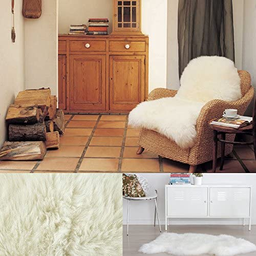 Bowron Sheepskin Rugs Ivory Gold Star Longwool Rug Rug Size: 2' x 3'