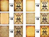 Stationary Paper - Old Fashion Aged Classic Antique & Vintage Assorted Design – Double-side Parchment Paper - Perfect for Certificate, Crafting, Invitations & other Art Projects - 8.5x11 Inches