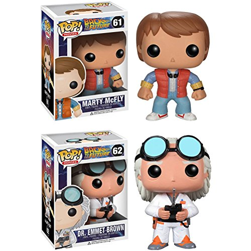 Funko Back to The Future Pop! Movie Doc Emmet Brown & Marty McFly Vinyl Collectors Set -
