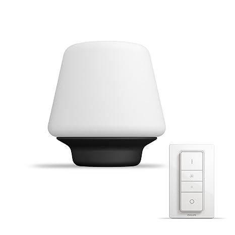 Philips Hue White ambiance Wellness - Lámpara de mesa LED con mando, Iluminación inteligente, compatible con Amazon Alexa, Apple HomeKit y Google ...