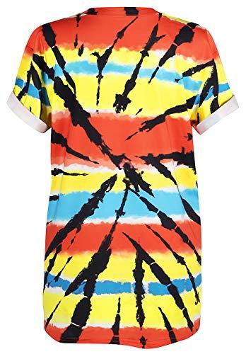 Follia Stampa 3d Bottoni Maglietta Alien Allentata Corte Graffiti Fit Ocean Get Camicie Unisex Sportiva Loose Brain Plus Con shirt Your Pazzo Maniche T 040 A PxEqO